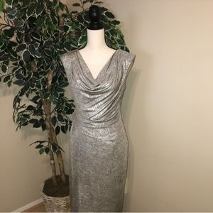 Connected Apparel Gray Cocktail Dress